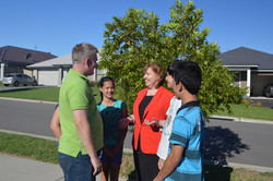 Meeting families in Maitland