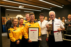 170405 KW at Emergency Services Young Volunteers Awards with Alex Slade
