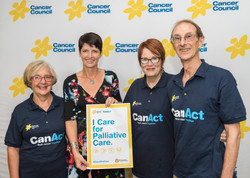 170329 Kate, Stephanie, Barbara _ Howard at Cancer Council Palliative Care campaign launch