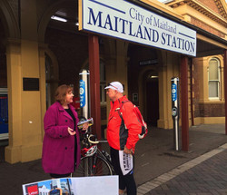 Speaking with rail commuters