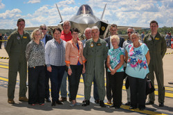 170306 KW at F35 inspection in QLD with Commander Craig Heap