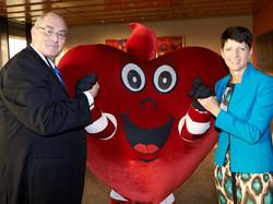 170505 KW with Walt Secord at Heart Foundation Heart Week Breakfast
