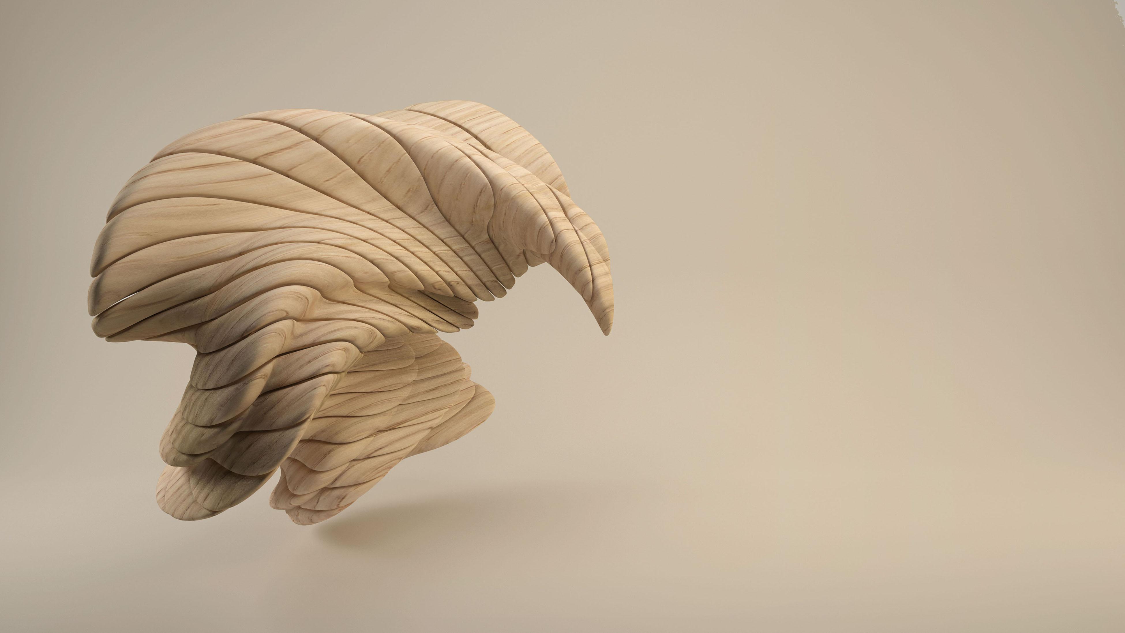 3D Wooden Figure