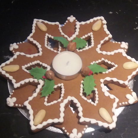 Gingerbread Candle Holder