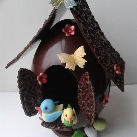 Chocolate Egg Birdhouse