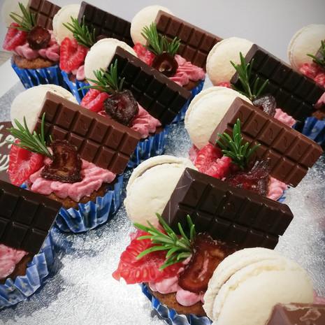 Mini Chocolate Bar Cupcakes