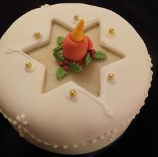 Christmas Cake Candle