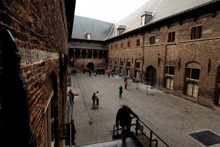 Courtyard at rear of The Belfry