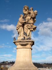 Statue on the Charles Bridge