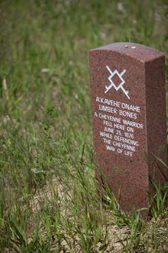 Custer Battlefield marker