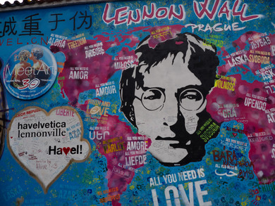 Triibute wall to John Lennon