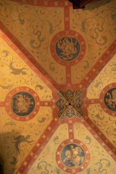 Ceiling in stairway