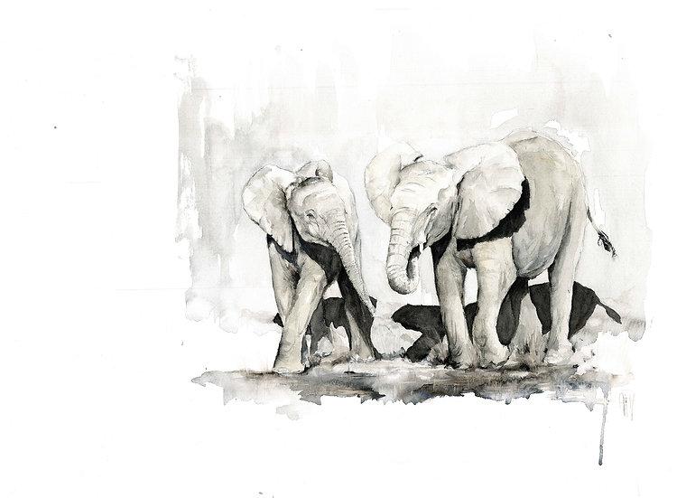 """""""Okavango Blessings"""" - original watercolour painting"""