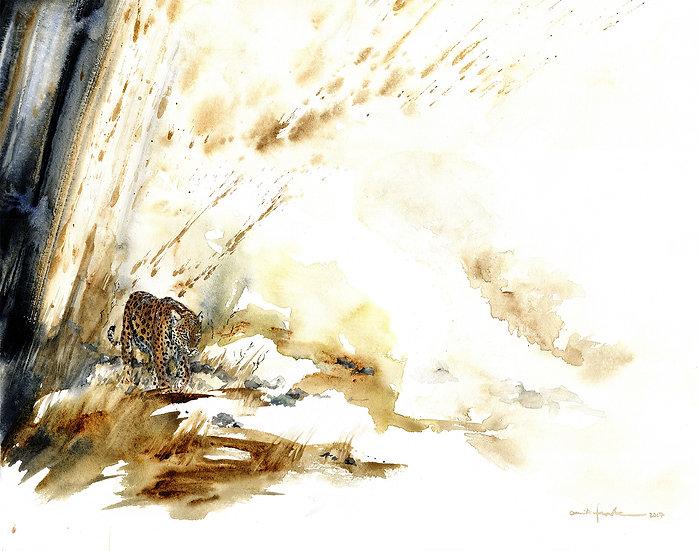 """silent paws""- original watercolour painting"