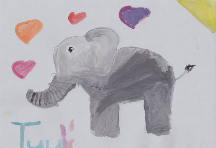 """elephant"" - by Tuuli - Namibia"