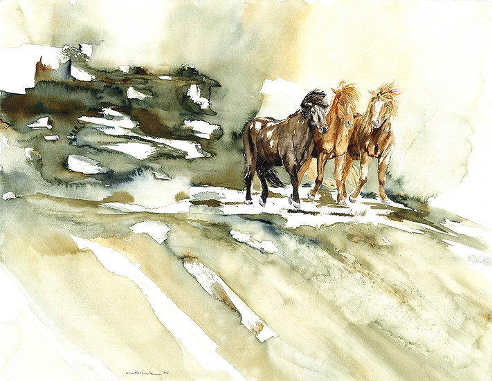 """free spirit"" - original watercolour painting"