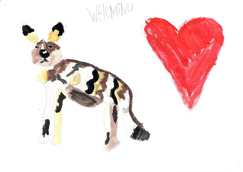 """wild dog"" - by Willemina - Namibia"