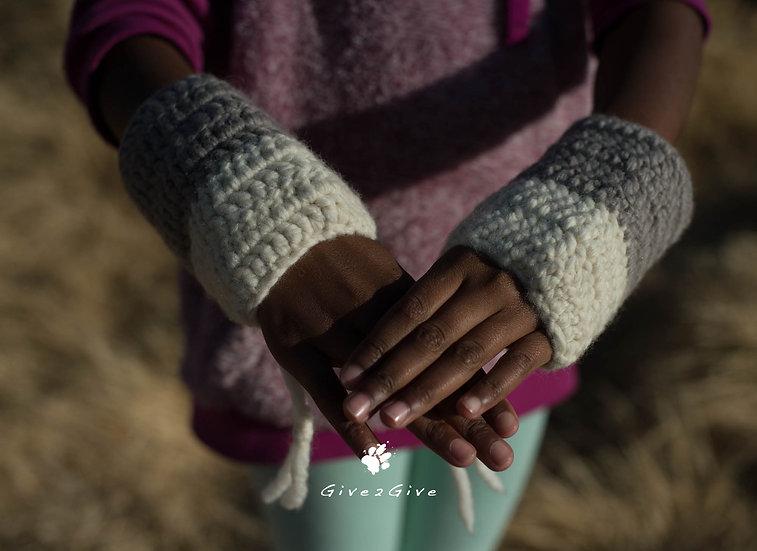 Give2Give -  Kids Handwarmers taupe/creme