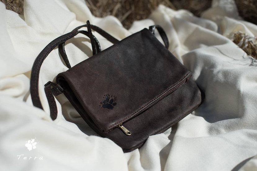 T E R R A limited edition leather handbag by bark design