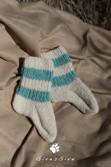 Give2Give - Fleece Toddler Socks turquoise/creme