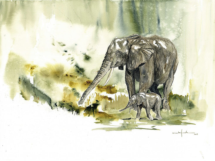 """by faith"" - original watercolour painting - by Annika Funke - Namibia"