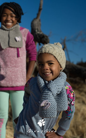 Give2Give -  Kids Scarf blue butterfly