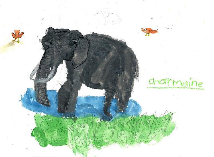 """""""elephant"""" - by Charmaine- Namibia"""
