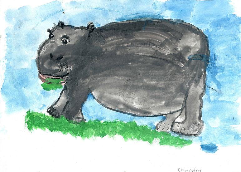 """hippo"" - by Charmaine - Namibia"