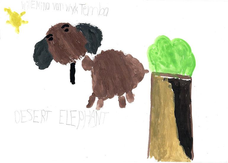 """""""desert elephant"""" -by Willemina - Namibia"""