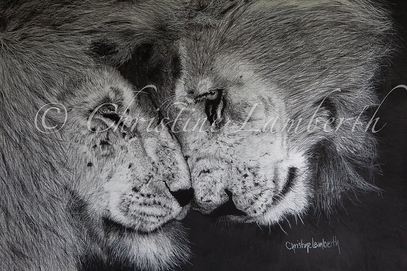 """Blood Brothers"" - Fine Art Print - by Cristine Lamberth - South Africa"