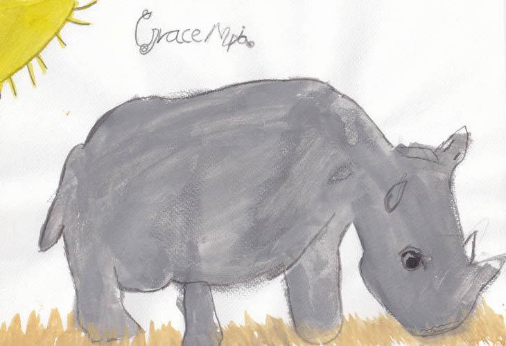 """Rhino"" - by Grace - Namibia"