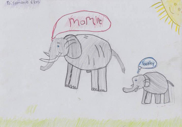 """""""elephant"""" - by Charmaine - Namibia"""