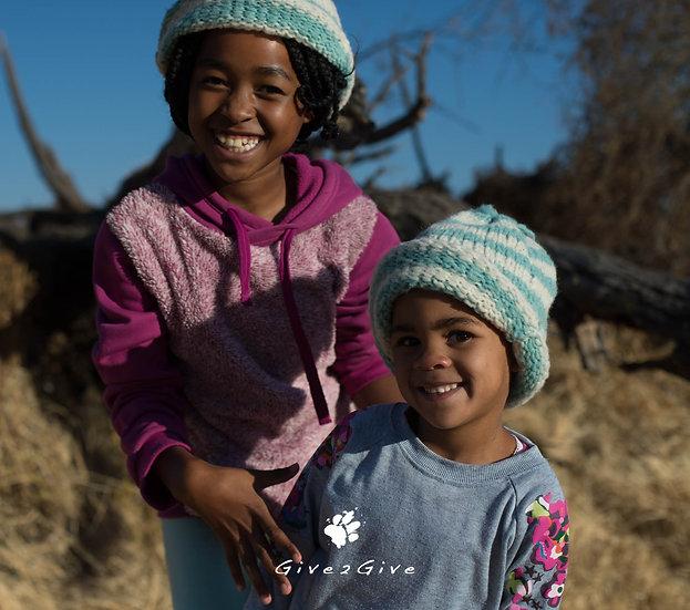 Give2Give - Striped Fleece Kids Beanie