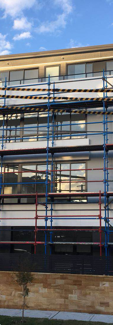 Scaffolding for access only for electricial inspection