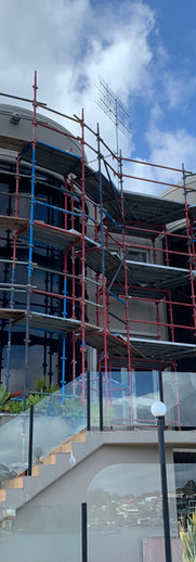 Scaffolding for luxury house in Putney
