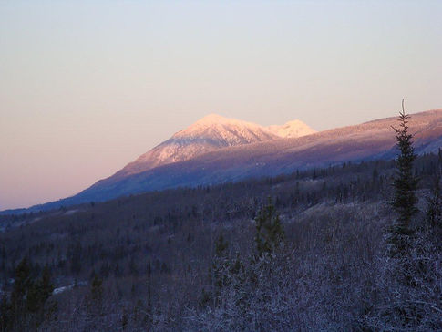 Faro Vacation Rentals scenery in Faro, Yukon Canada