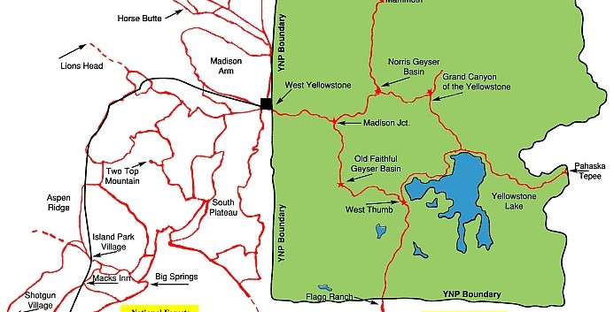 West Yellowstone Trail Map