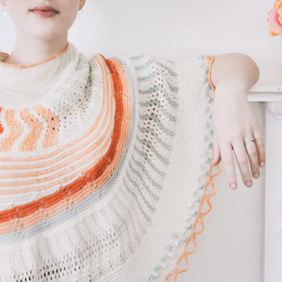 Seamless top down sweater knitting pattern