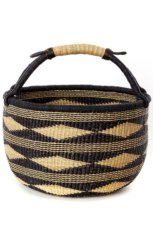 Black and Tan Ghanaian Bolga Basket