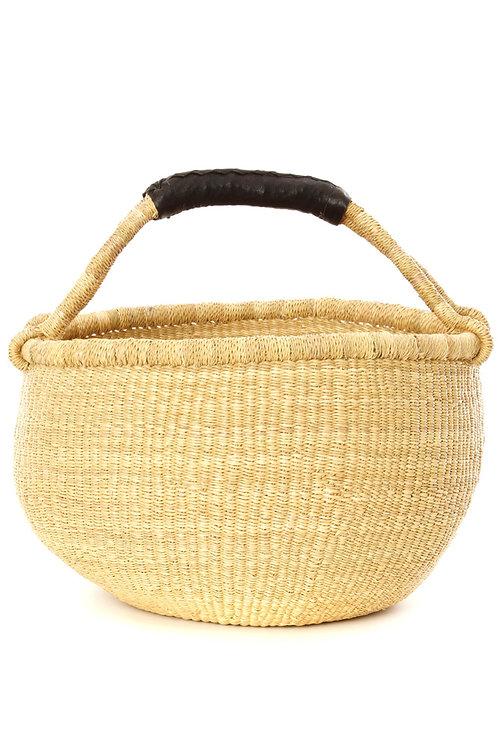 Natural / Black Ghanaian Bolga Basket