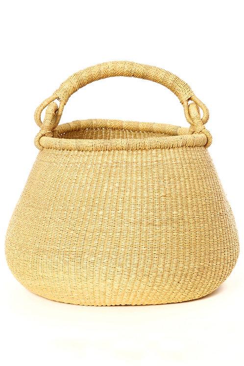 Natural Ghanaian Kettle Basket
