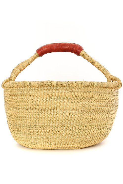 Natural / Red Ghanaian Bolga Basket