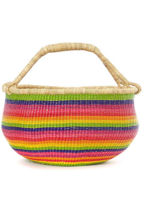 Rainbow Ghanaian Bolga Basket