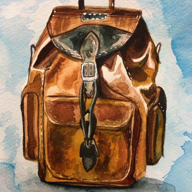 Backpack, 8x6, $80.00