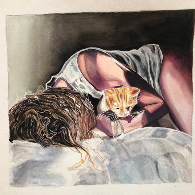 Kitten, 8x8.5, $250.00
