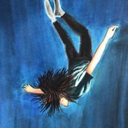 Falling boy, 9x12, $200.00