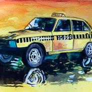 Taxi, 6x8, $80.00