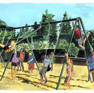SOLD -Playground, 10x12, $400.00