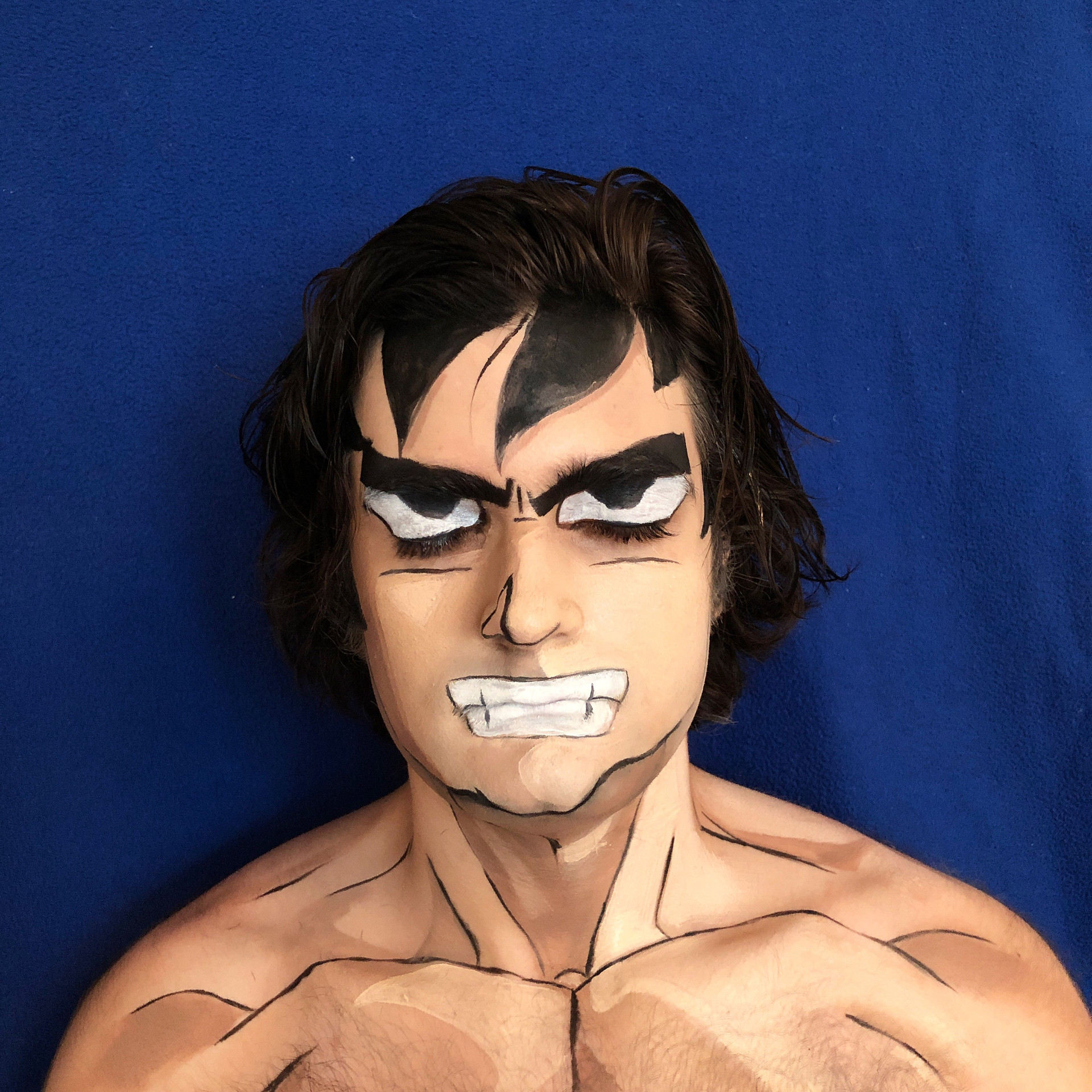 Body/face painting of character, Goku
