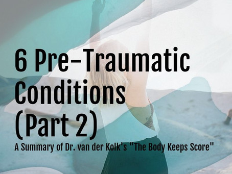 "Part 2 | 6 Pre-Traumatic Conditions | A Summary of Dr. van der Kolk's ""The Body Keeps Score"""